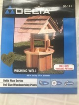 Delta Plan Series Full Size Woodworking Plans Wishing Well Yard Decor 80... - $9.50