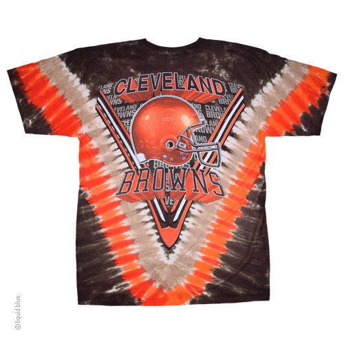 45104ad1 New CLEVELAND BROWNS Tie Dye V Dye T Shirt LICENSED NFL APPAREL