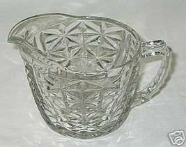 Anchor Hocking Stars & Bars Pattern Creamer - $4.90