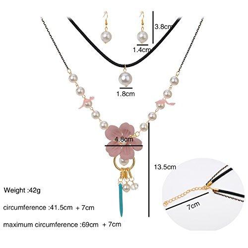 IPINK Fashion Charm Jewelry Pendant Faux Pearl Choker Chunky (Style G)
