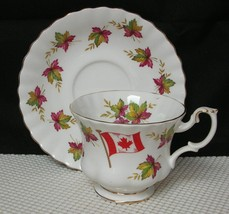"Lovely Royal Albert ""From Sea To Sea"" Canada Maple Leaf Tea Cup & Saucer England - $12.36"