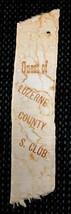 1836 antique LUZERNE COUNTY PA SILK RIBBON S. CLUB pettibone/pettebone S... - $87.95