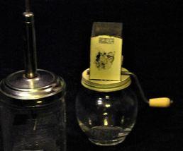 Vintage Hazel Atlas Glass Food Nut Chopper #5393  AA19-1391 image 5