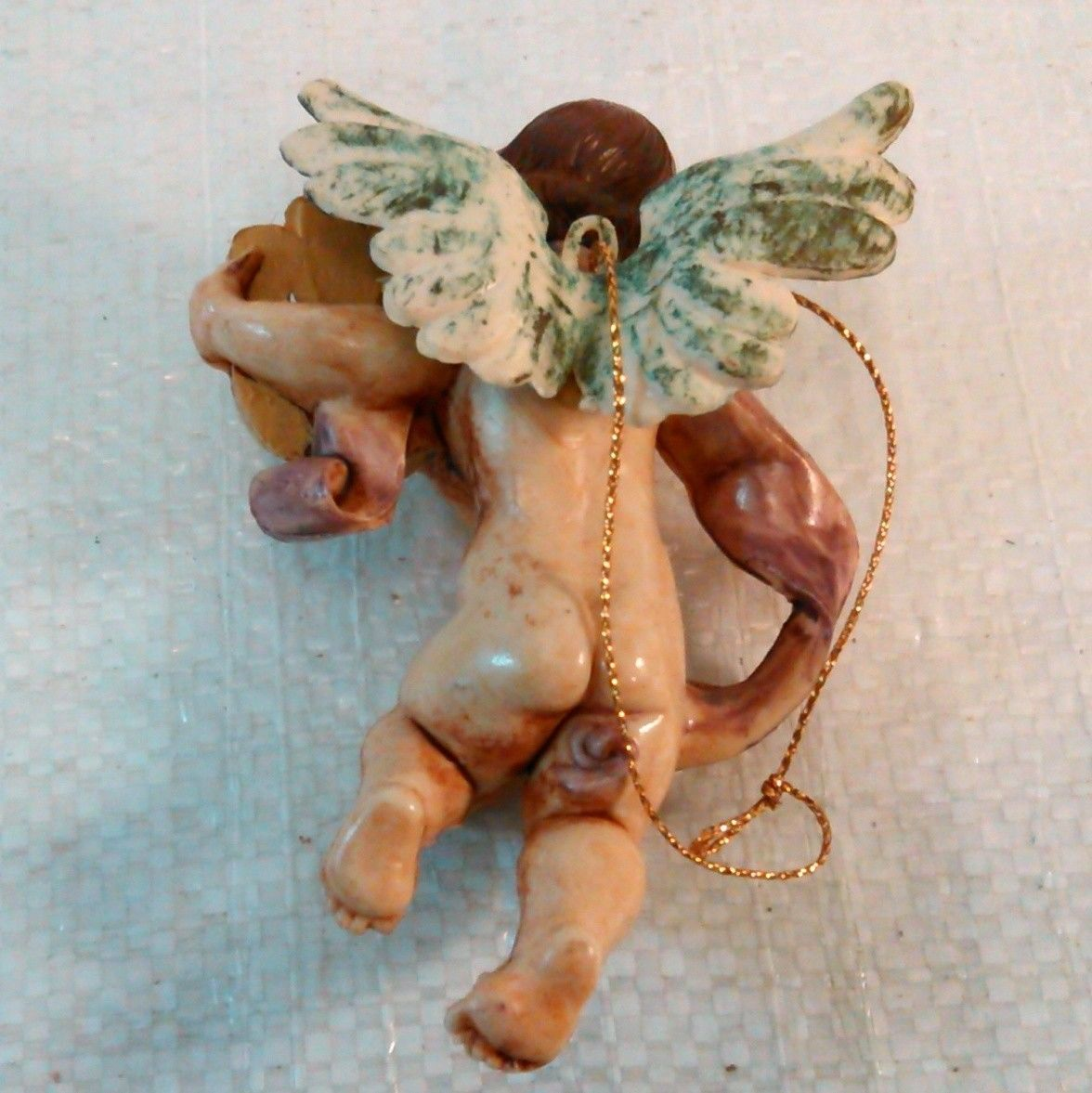 Vintage Angel Christmas Ornament Hard Rubber
