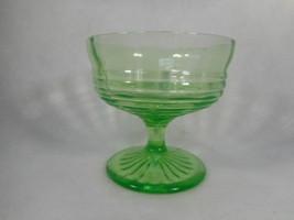 Vintage Green Depression Glass Block Optic Footed Sherbert - $7.87