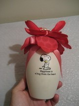 "HALLMARK peanuts snoopy ""blooming experience"" musical flower vase - $21.23"