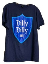 Bud Light Dilly Dilly Mens Blue Graphic T-Shirt Size XL Beer Shield Logo... - $14.99