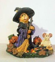 Boyds Bears & Friends Sabrina and Boo 81010 Purrstone Halloween 2000 - $14.00