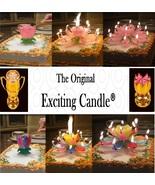 1 Rainbow + 1 Pink  Amazing Lotus Flower Music Happy Birthday EXCITING C... - $14.99