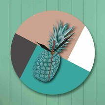Modern Pineapple Acrylic Wall Clock Stitching Color Fruit Vegan Home Dec... - $39.27+