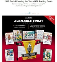 2019 Panini Passing The Torch Football Hobby Box - 3 Autos - $189.99
