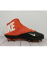 Nike Zoom Code Elite TD 3/4 Football Cleats Orange Black 603368-008 Size... - $14.84