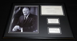 Humbert Humphrey 12x18 Facsimile Signed Framed Vintage Mince Meat Pie Re... - $74.44