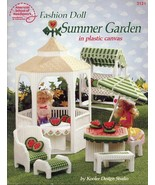 Fashion Doll Summer Garden Gazebo Barbie Plastic Canvas PATTERN/INSTRUCT... - $12.22