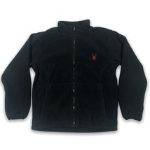 Spyder Kids Stand Up Collar Full Zip Black Jacket Sweater Size Youth Large - $23.40