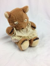 CREATIVE CONCEPTS UNLIMITED PLUSH DOLL SLEEPING  Baby Girl BEAR EYES CLO... - $9.89