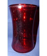 "Red Glass 6.25"" Vase - $16.14"