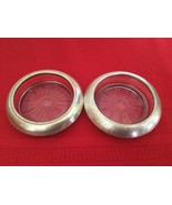 VTG Sterling Silver and  Crystal Coasters Ashtrays  Set Of 2 Frank M Whi... - $25.00