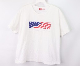 Vintage Target Womens Large Indpendence Day USA Flag Box Logo Crop Top S... - $26.68