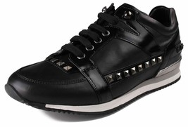 Versace Collection Mens Black Nero Scarpe Black Studded Runner Shoes V900352 NIB