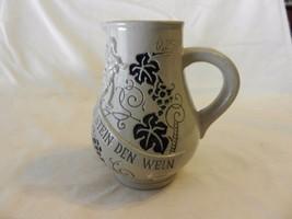 Grey & Blue German Pitcher Trinkt Wie Eure Vater Aus Stein Den Wein - $29.70