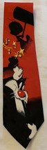 Looney Tunes Tie Necktie Sylvester & Tweety Red & Black - $7.87