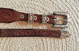 BOHLIN MADE BELT RANGER PLATA DE JALISCO STERLING SILVER BUCKLE Leather Western image 3