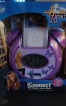 Disney Hannah Montana iConnect Mp3 Speaker Alarm Clock collectible sealed purple - $14.95