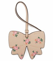 Coach NWT 27417B Boxed Beechwood Leather Bow Floral Bag Charm Key Chain - $17.72