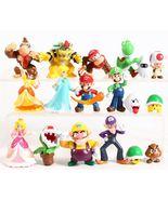 Super Mario Bros Mario Luigi  Bowser Yoshi  Donkey Kong Figures Toys - $29.00