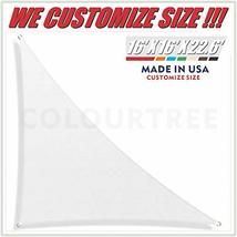 ColourTree 16' x 16' x 22.6' Right Triangle White Sun Shade Sail Canopy Awning S image 12