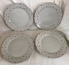 4 Home (Target) Chelsea Park Dinner Plate (s) Polka Multi Color Dots Porcelain - $59.99