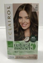 Clairol Light Brown # 6 Natural Instincts Hair Dye Color Ammonia Free Semi Perm - $10.48