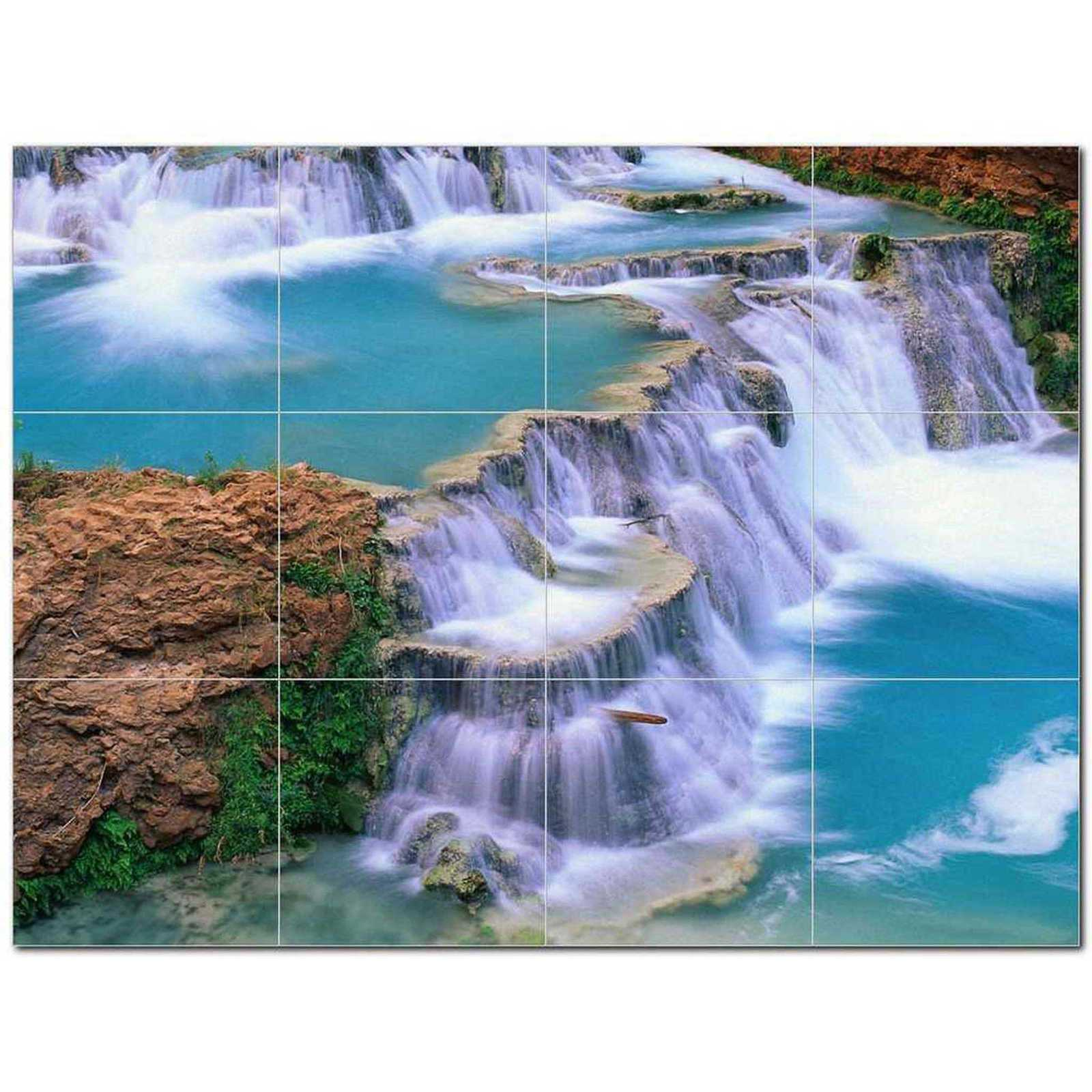 Primary image for Waterfall Photo Ceramic Tile Mural Kitchen Backsplash Bathroom Shower BAZ406137