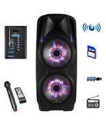 beFree Sound 2x10 Inch Woofer Portable Bluetooth Powered PA Speaker - $157.88