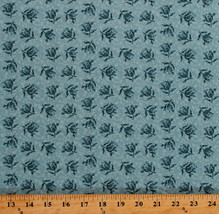 Something Blue Edyta Sitar Peony Peonies Floral Cotton Fabric Print BTY ... - $12.49