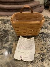 Longaberger Ambrosia Booking Basket 1995 handy size hangs up - $18.00