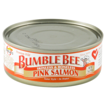 Bumble Bee Foods Wild Pink Salmon Skinless Boneless, 5-Ounce Cans (Pack of 12) - $40.50