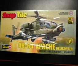 Revell Plastic Model Kit 2011 AH-64 Apache Helicopter SnapTite Level One... - $10.99