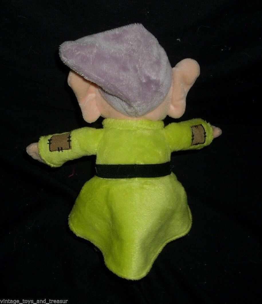 "10"" DOPEY SNOW WHITE AND THE 7 DWARFS STUFFED ANIMAL PLUSH TOY DISNEY SOFT DOLL"