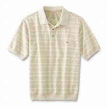 David Taylor Men's Cotton Blend Geometric Collared Lightweight Polo Shirt - M