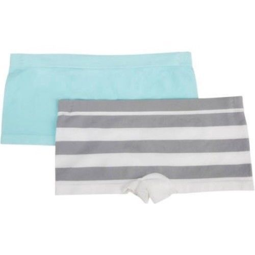 e36f46caeb13 57. 57. Fruit Of The Loom Girls Seamless Boyshort Panties 2 Pack Stripe Size  ...