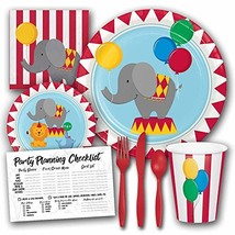 Circus Time Theme Birthday Party Supplies Set - Serves 8 Guests - $15.61