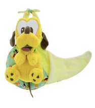 Disney Parks Baby Pluto the Dog in a Pouch Blanket Plush Doll NEW - $37.90