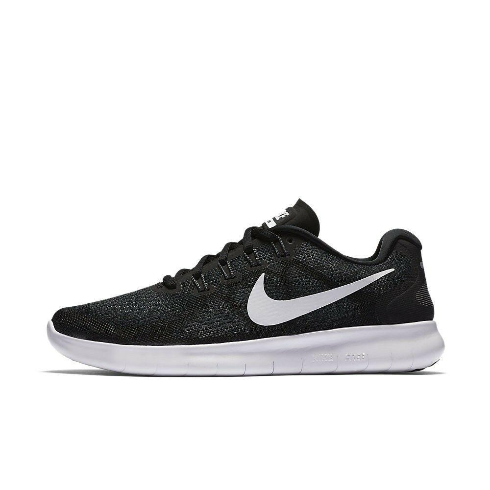 Nike Free RN 2017 Black/White/Dark Grey Running Womens Shoes 880840-001