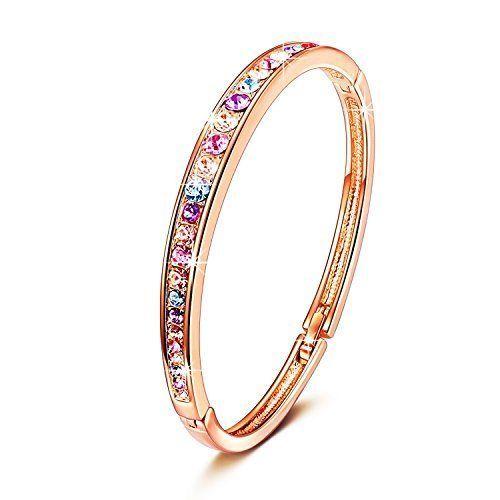 Gemma Collection Womens Murano Glass Bangle Bracelet