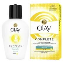 Olay 3in1 Lightweight Day Fluid SENSITIVE Skin cream SPF15 VITAMINS B3, ... - $12.77