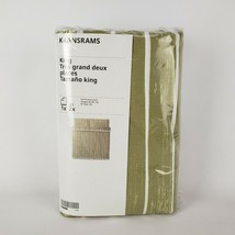 Ikea Kransrams King Duvet Cover 2 Pillowcases Bed Set White Lime Green S... - $48.07