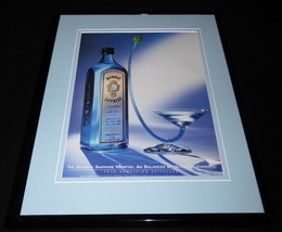 1999 Bombay Sapphire Gin Framed 11x14 ORIGINAL Vintage Advertisement - $32.36