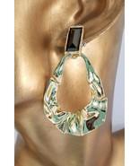 ALEXIS BITTAR CRUMPLED GOLD DANGLING POST EARRINGS, NWOT  - $72.00